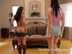 Holly Michaels und Sammi Bananas beim Castingsex
